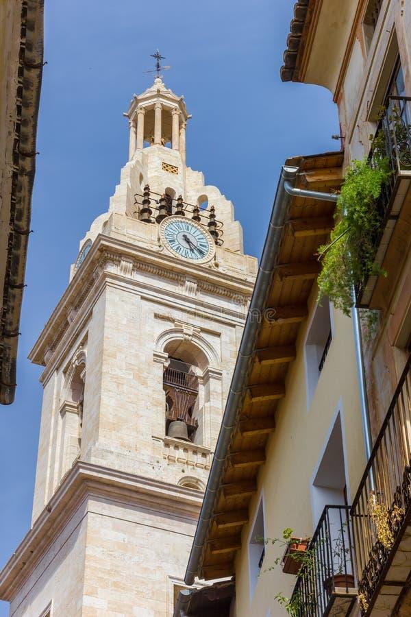 Torre da basílica Santa Maria em Xativa fotos de stock