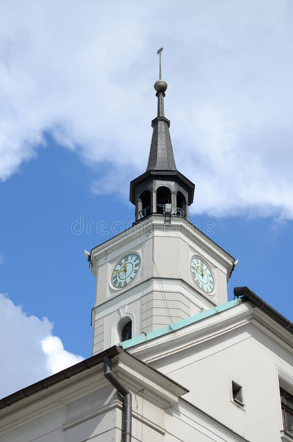 Torre da câmara municipal em gliwice, Polônia foto de stock