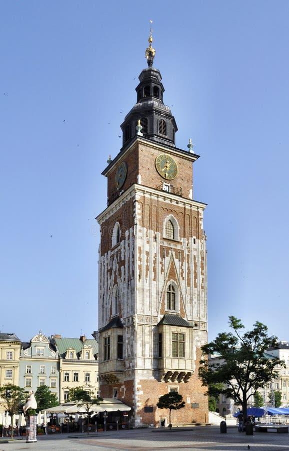 Torre da câmara municipal em Krakow, Poland fotografia de stock royalty free
