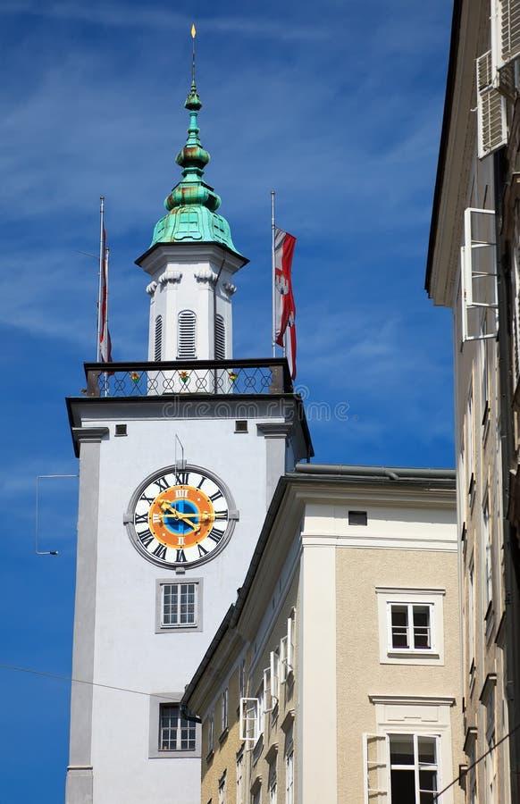 Torre da câmara municipal em Salzburg imagens de stock