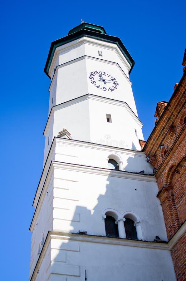 Torre da câmara municipal em Sandomierz, Polônia fotos de stock