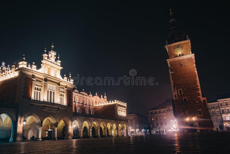 Torre da c?mara municipal em Krakow, Poland fotos de stock