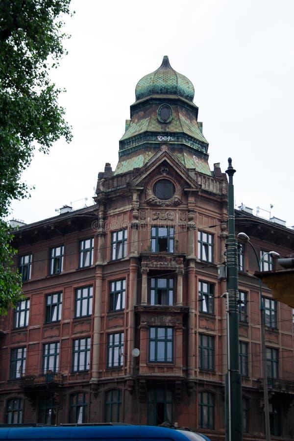 Torre da casa de Ohrenstein em Krakow, Polônia imagem de stock royalty free