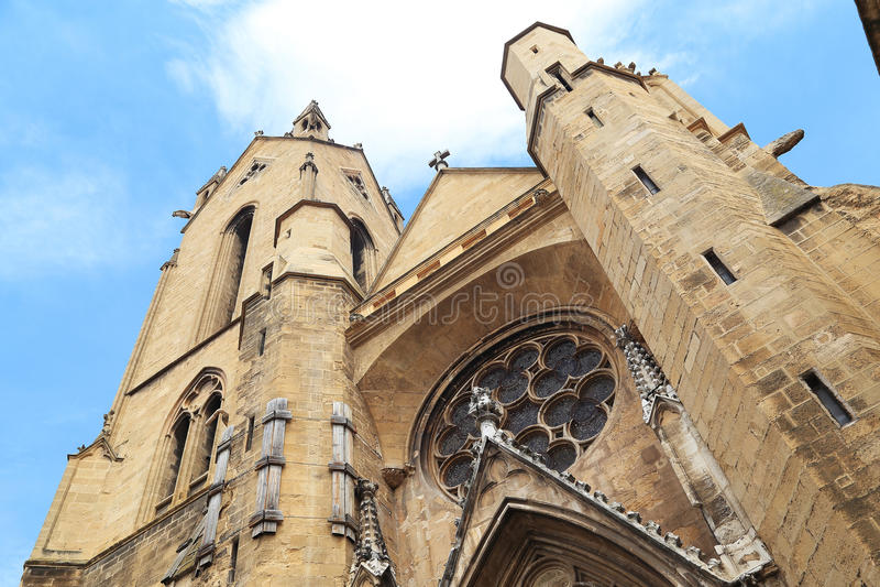 Torre da catedral velha imagem de stock