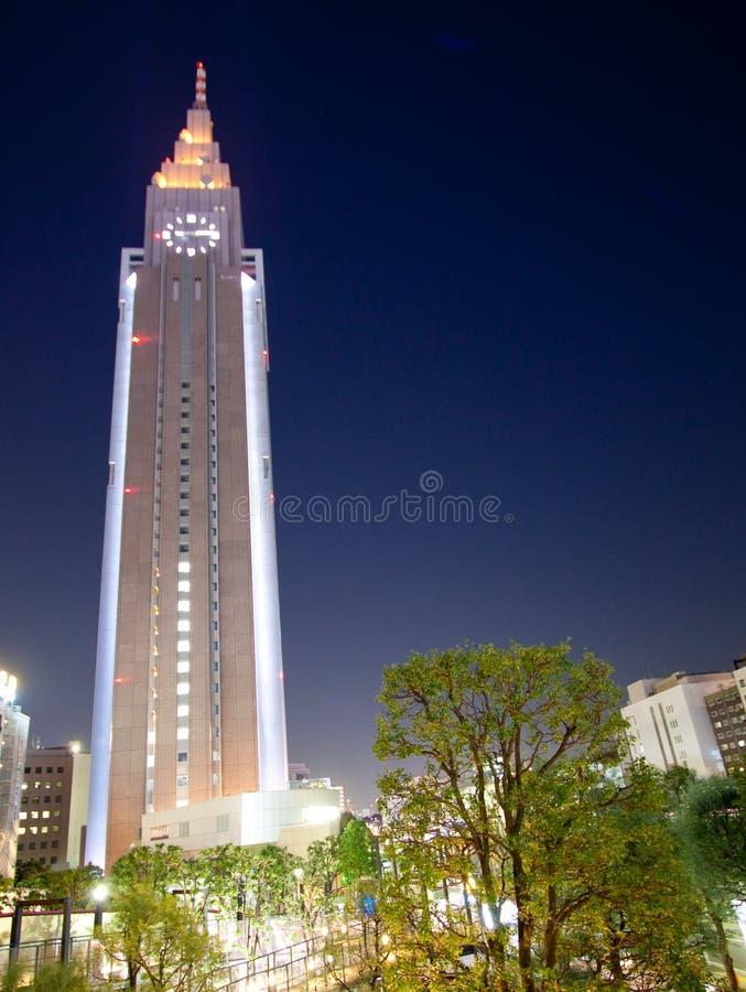 Torre da cidade de Tokyo na noite fotografia de stock royalty free
