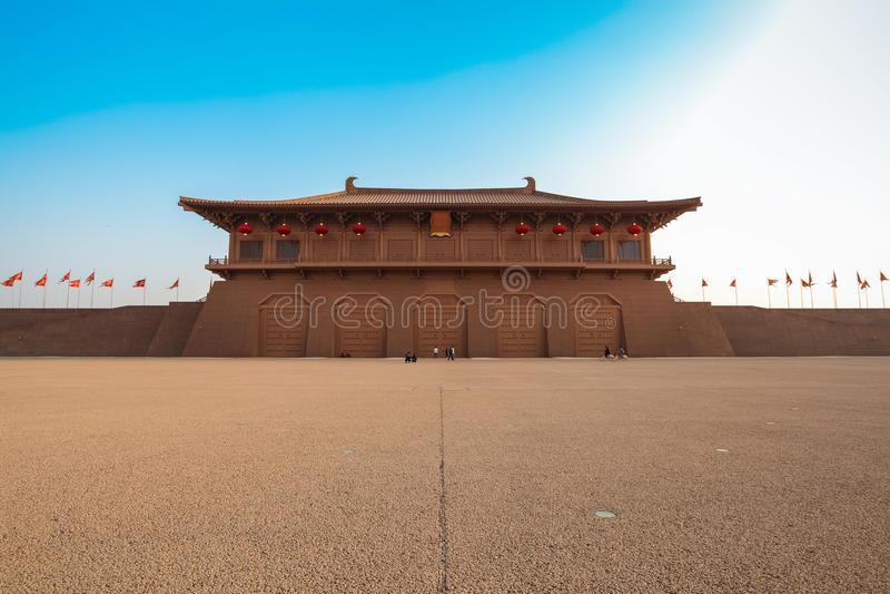 Palácio daming de Xian imagens de stock