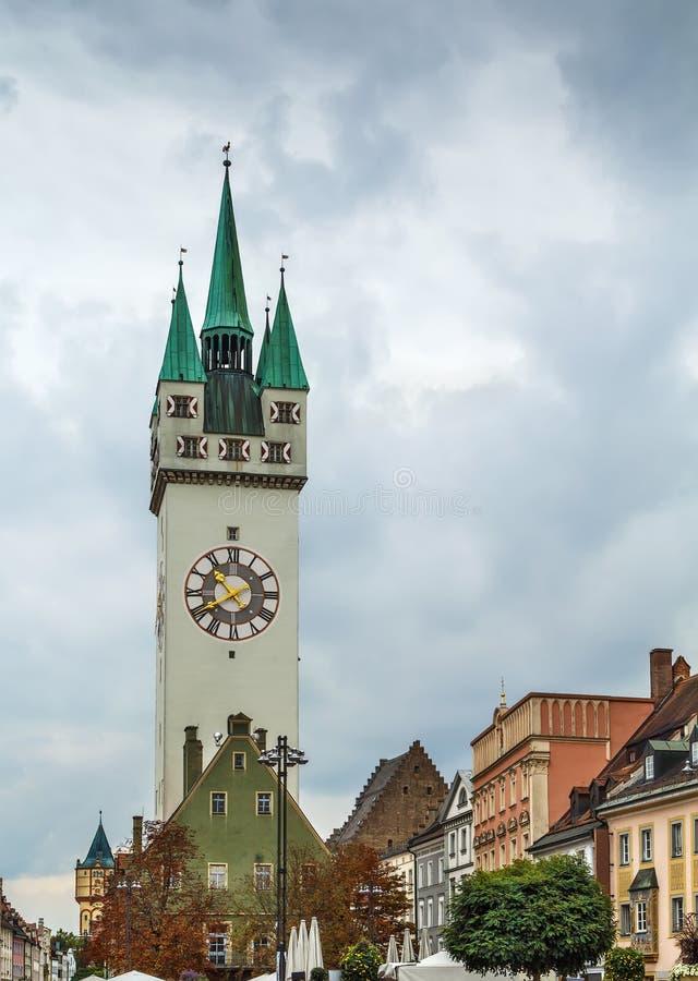 Torre da cidade, Straubing, Alemanha imagem de stock