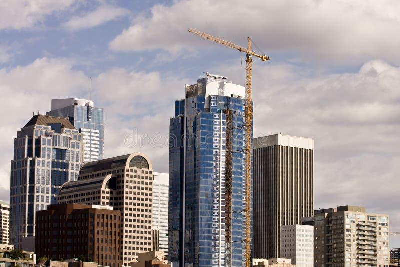 Torre da construção em Seattle fotografia de stock