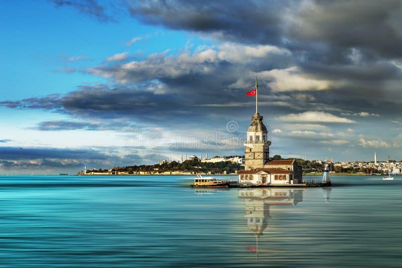 Torre da donzela em Istambul foto de stock royalty free