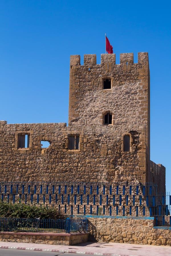 Torre da fortaleza do castelo em Safi, Marrocos fotos de stock royalty free