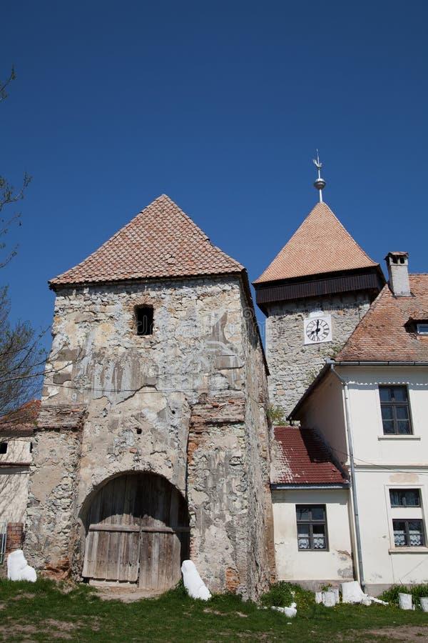 Torre da fortaleza Drauseni do camponês fotografia de stock