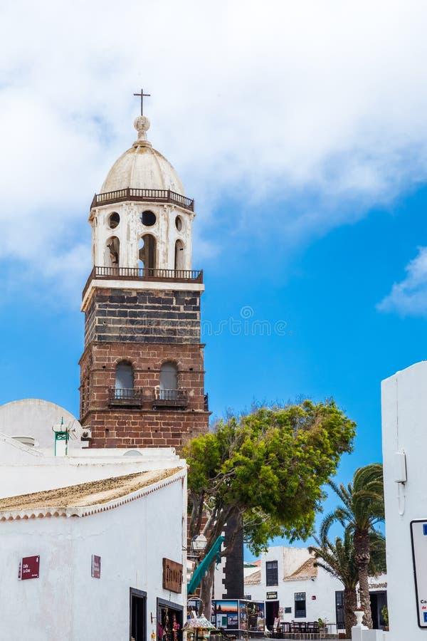 torre da igreja de Nuestra Señora de Guadalupe imagens de stock royalty free