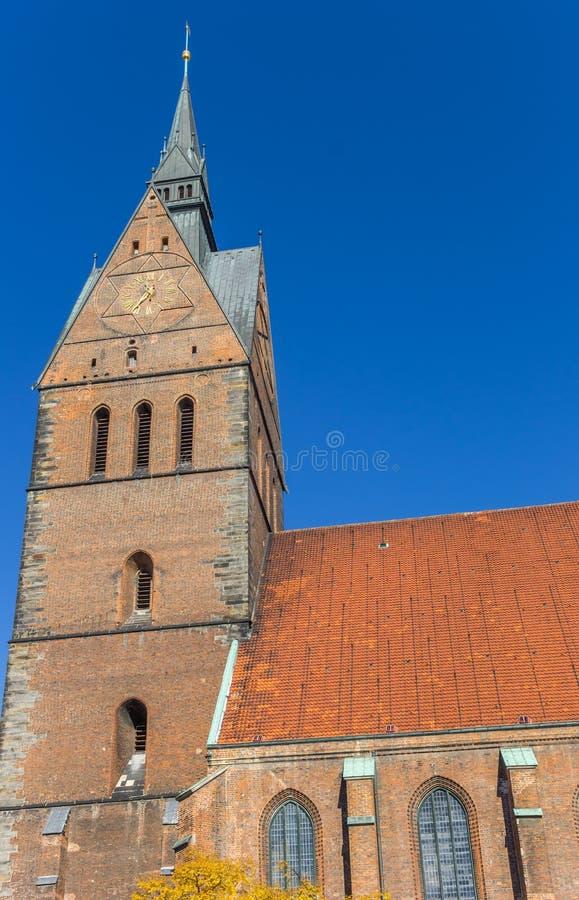 Torre da igreja do mercado em Hannover imagens de stock royalty free