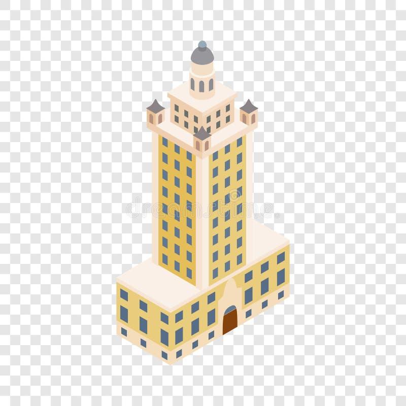 Torre da liberdade no ícone isométrico de Miami ilustração royalty free