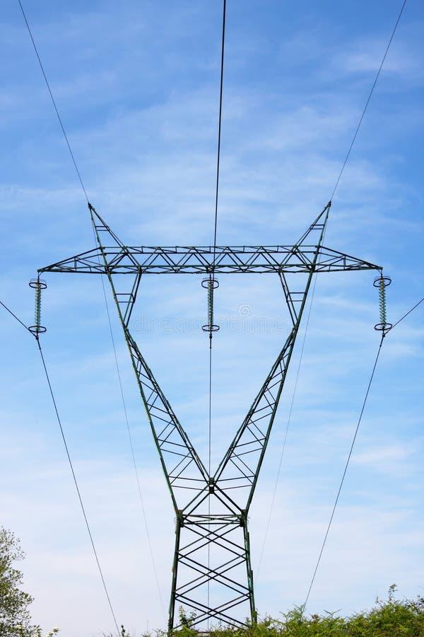 Torre da linha eléctrica imagens de stock