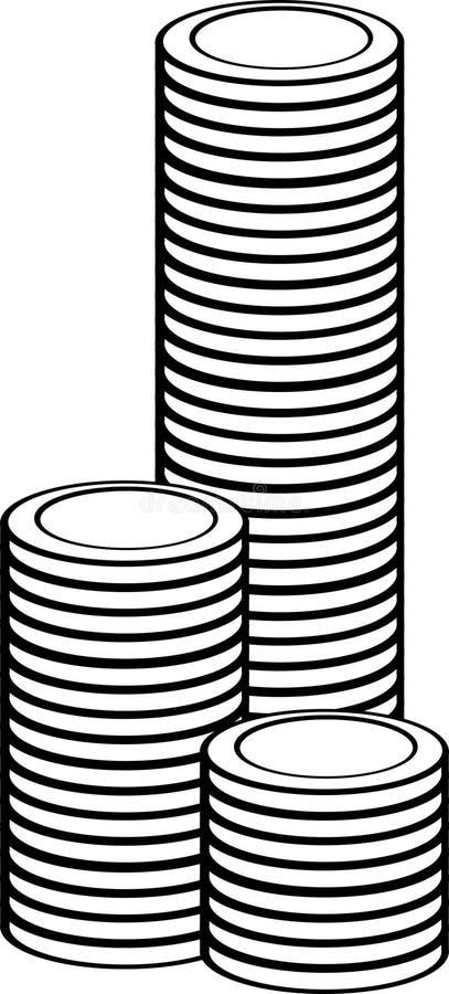 Torre da moeda ilustração stock