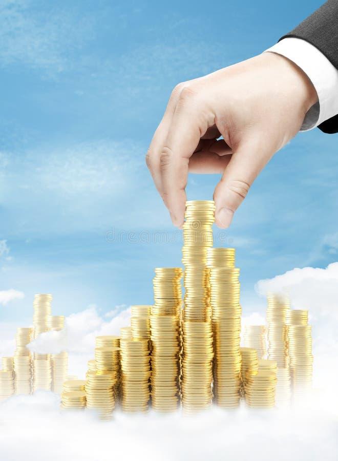 Torre da moeda da construção foto de stock royalty free