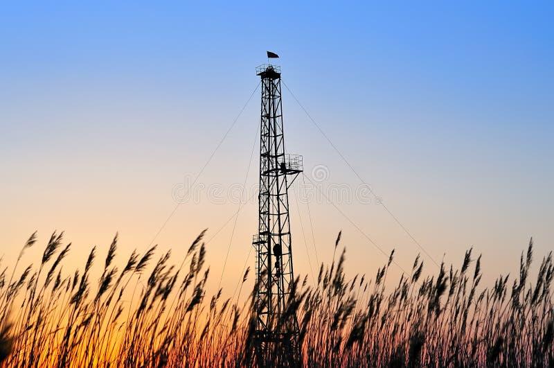Torre da perfuração fotografia de stock