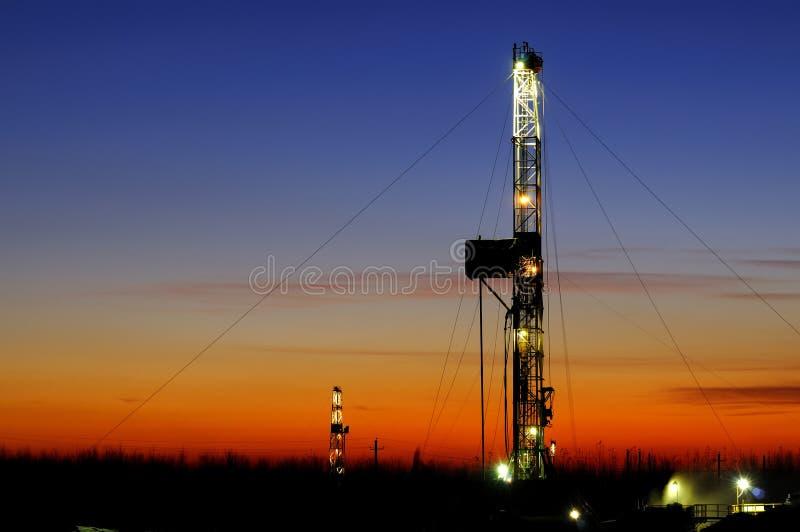 Torre da perfuração foto de stock