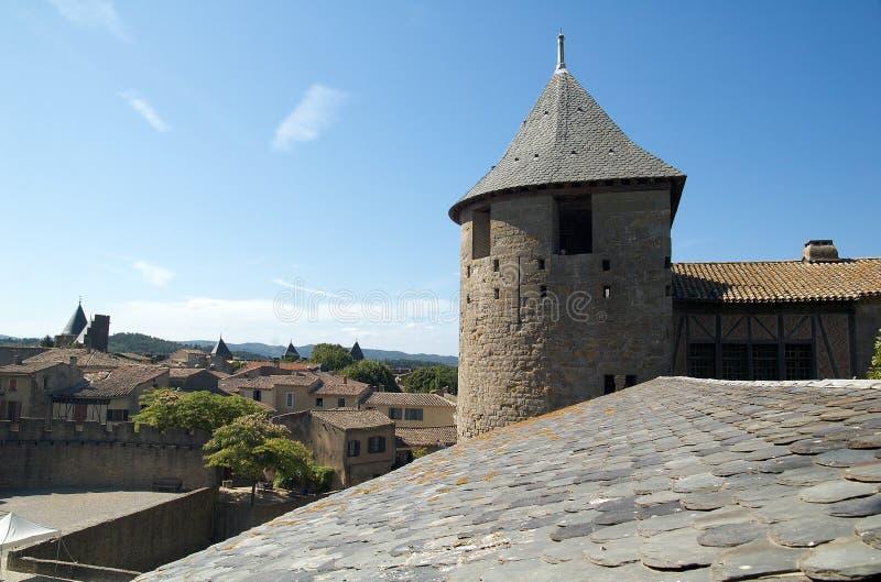 Torre da porta do castelo fotos de stock royalty free