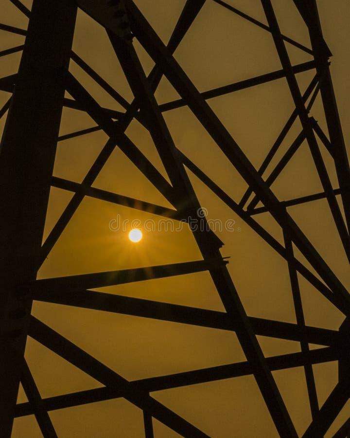Torre da rede elétrica fotografia de stock