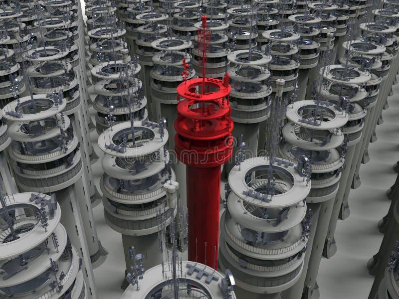Torre da telecomunicação - alvo na multidão ilustração royalty free