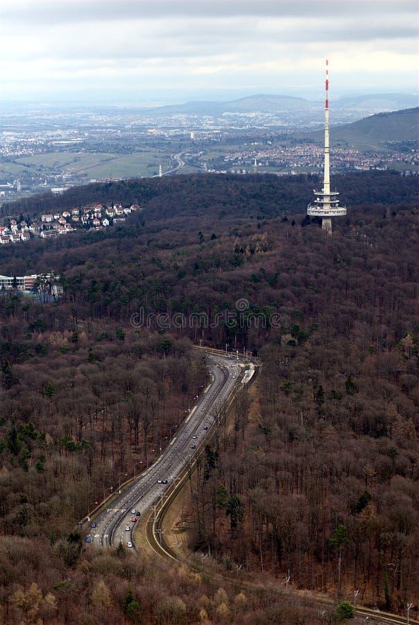 Torre da telecomunicação de Estugarda foto de stock