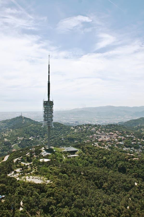 Torre da televisão em Barcelona fotografia de stock