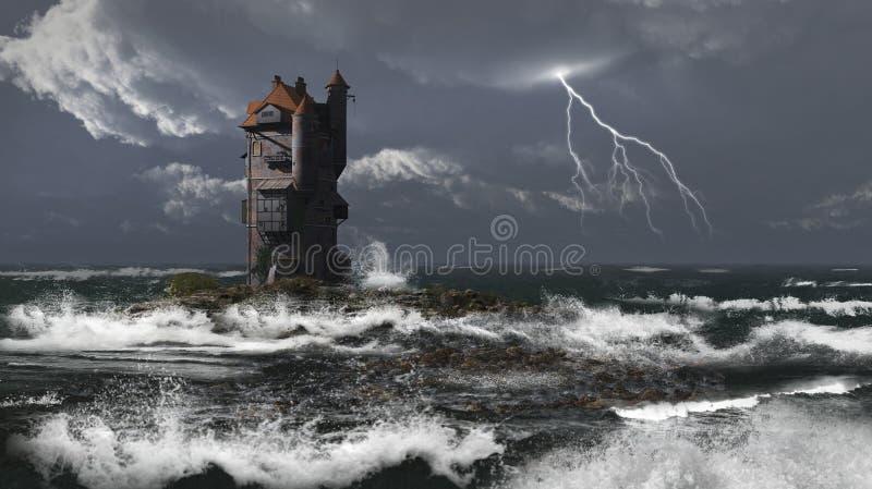 Torre da tempestade ilustração stock