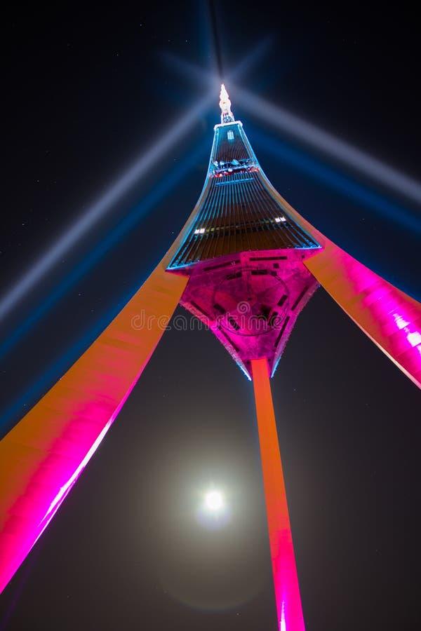Torre da tevê imagem de stock