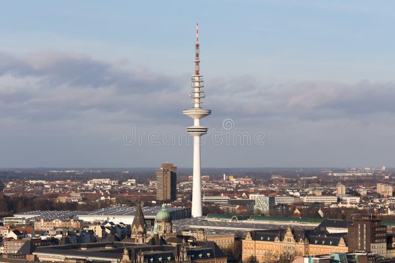 Torre da tevê de Hamburgo Alemanha fotos de stock royalty free