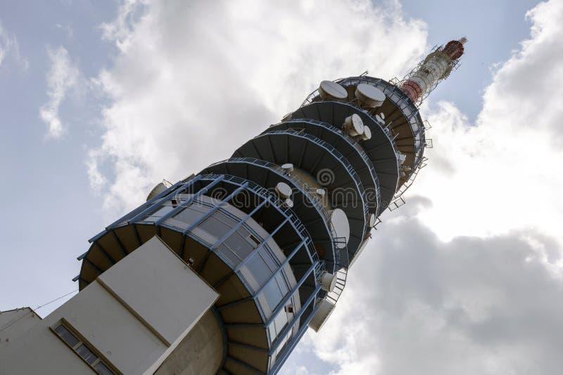 Torre da tevê de Kekesteto fotografia de stock