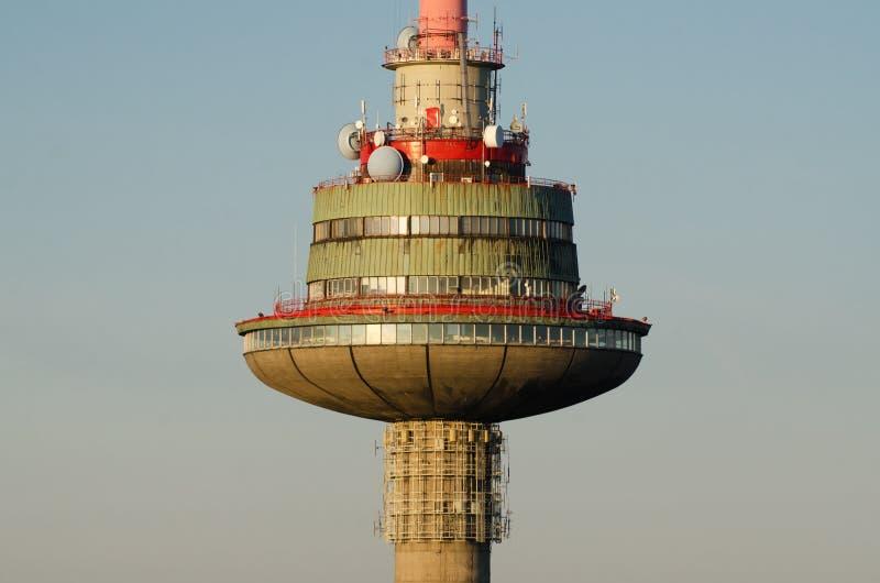 Torre da tevê em Vilnius, Lituânia imagens de stock