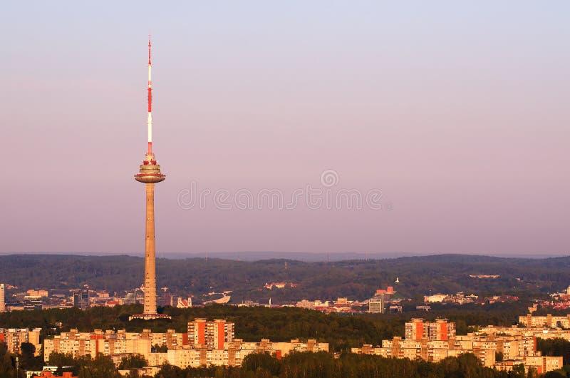 Torre da tevê em Vilnius, Lituânia imagens de stock royalty free