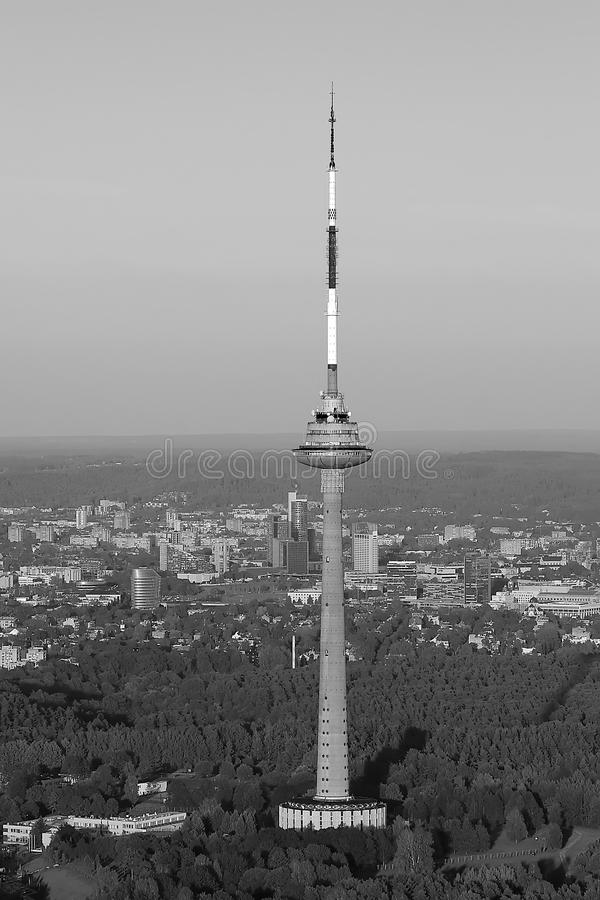Torre da tevê em Vilnius, Lituânia fotos de stock royalty free