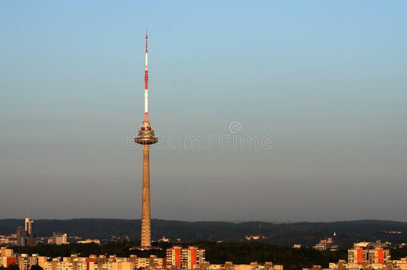 Torre da tevê em Vilnius, Lituânia imagem de stock royalty free
