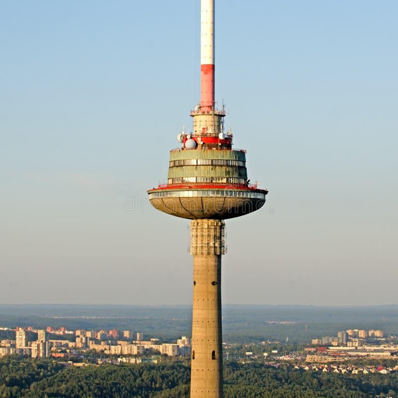 Torre da tevê em Vilnius, Lituânia imagem de stock
