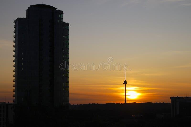 Torre da tevê - Vilnius - Lituânia fotos de stock