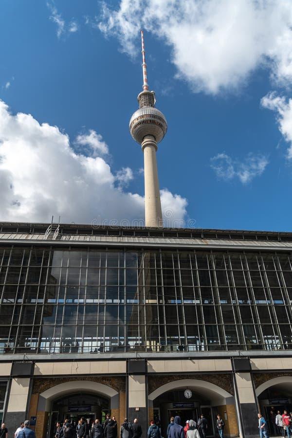 Torre da tev? de Berlim fotos de stock royalty free
