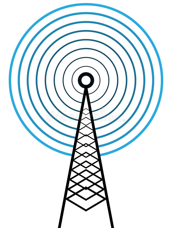 Torre da transmissão ilustração do vetor