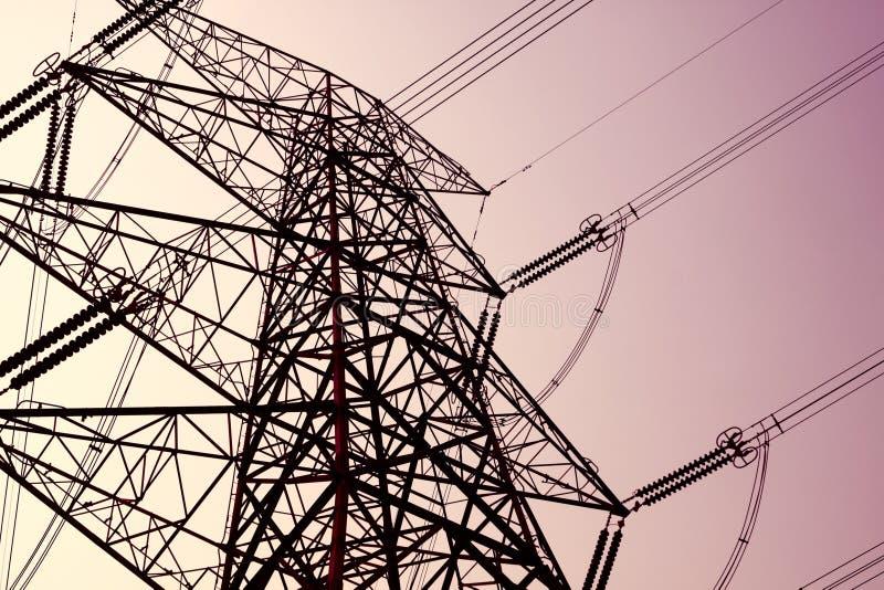Torre da transmissão de potência foto de stock