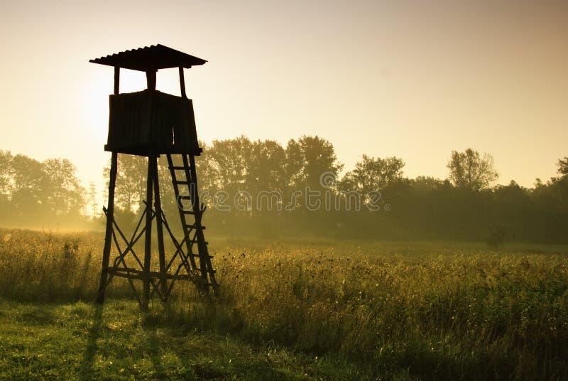 Torre da vigia para caçar fotos de stock royalty free