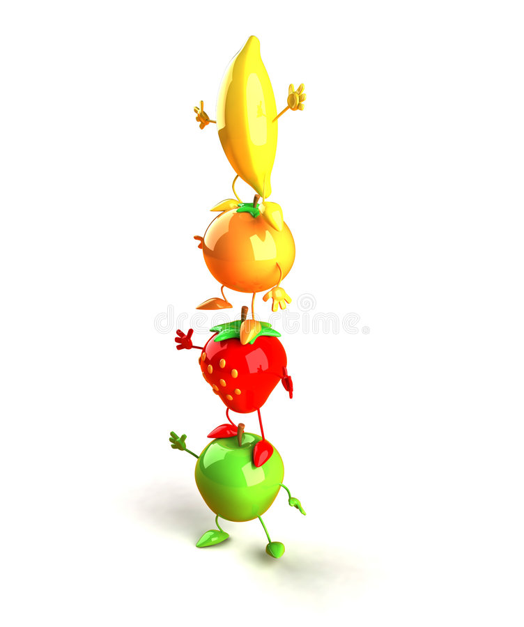 Torre das frutas ilustração stock