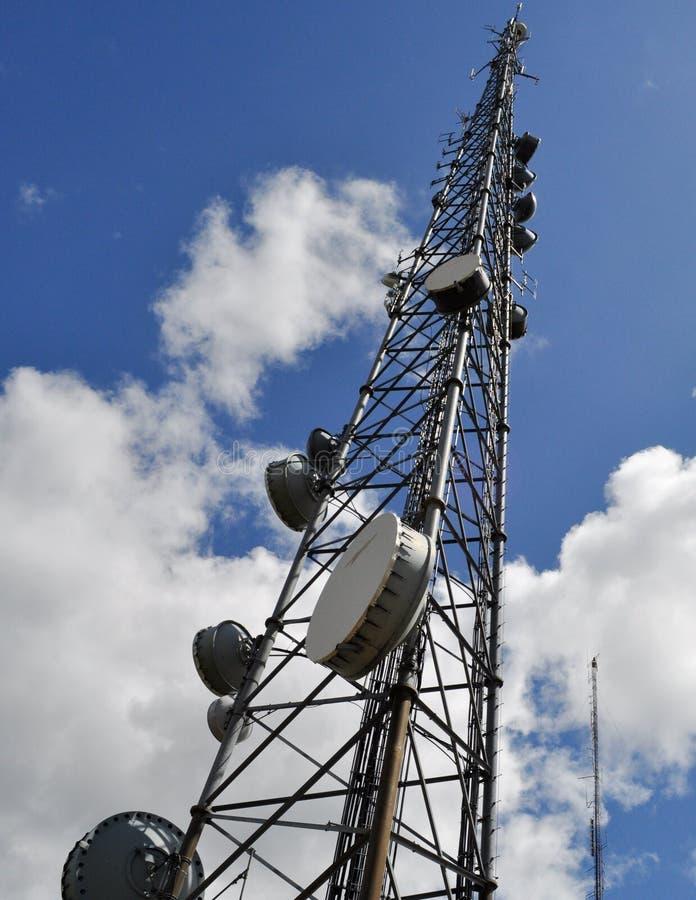 Torre das radiocomunicação fotos de stock