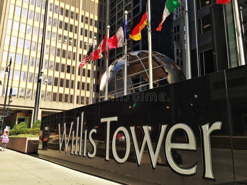Torre das vontades em Chicago fotografia de stock royalty free