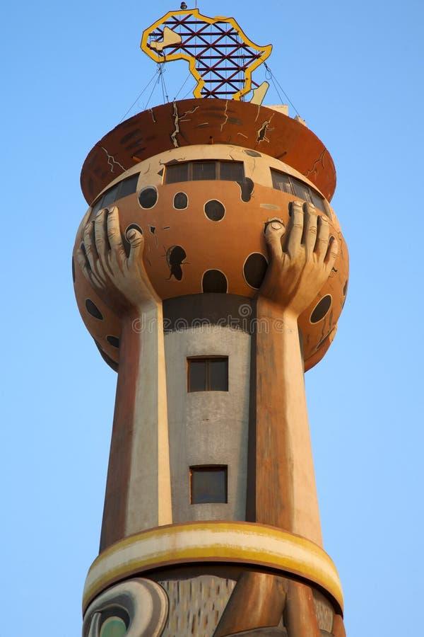 Torre de África em Bamako imagens de stock
