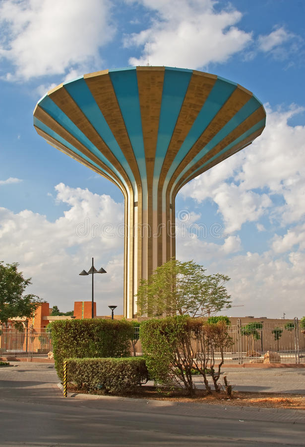 Download Torre de água foto de stock. Imagem de palma, pico, arábia - 12808948