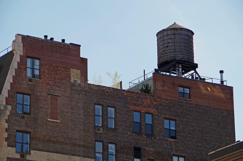 Torre de água de New York City imagens de stock