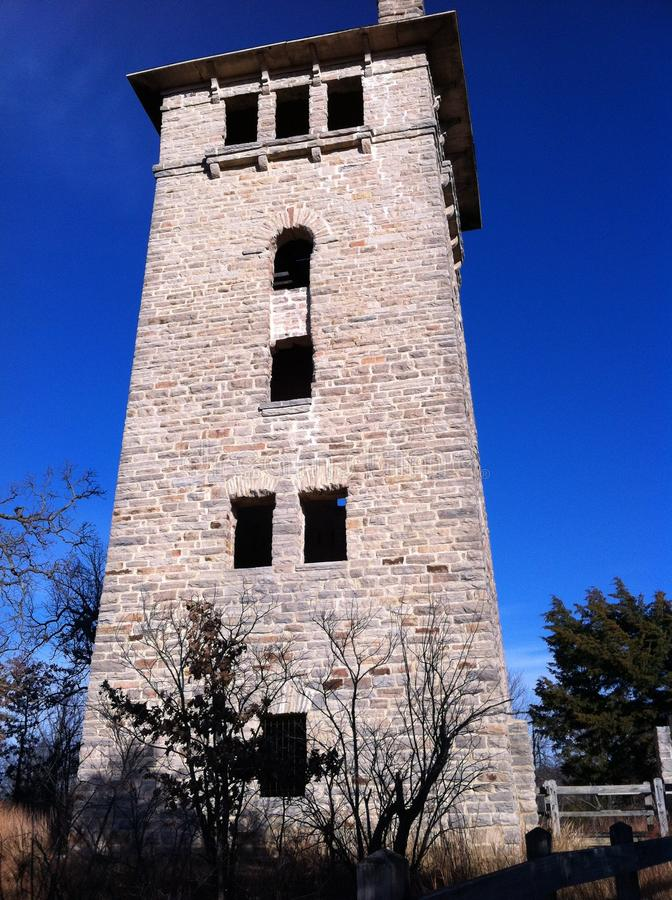 Torre de água do parque estadual do Ha Ha Tonka foto de stock