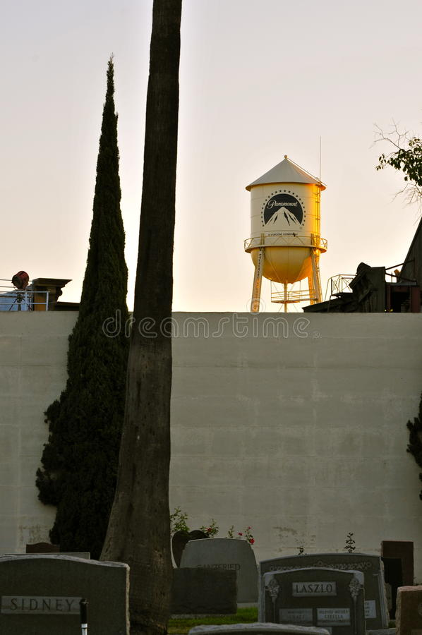 Torre de água do ` s do estúdio de Paramount fotos de stock royalty free